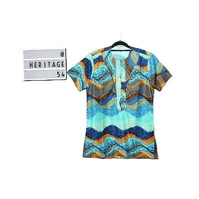 New African Short Sleeve Wear Multicoloured Ankara Shirt size S