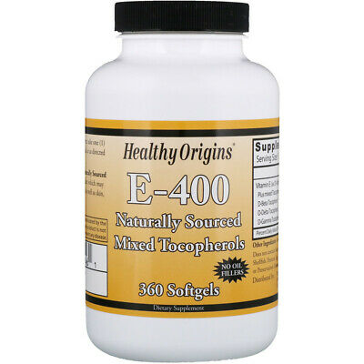 Natural Mixed Tocopherols Vitamin E-400, 360 Softgels