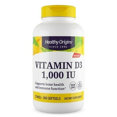 Pure Healthy Origins, Vitamin D3, 1,000 IU, 360 Softgels
