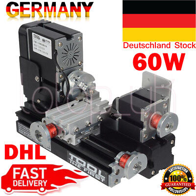 60W High Power Lathe Soft Metal working Woodworking Drehbank Drehmasch DHL DEK