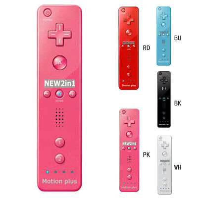 Motion Plus Inside Remote Controller Nintendo 2 in 1 Wii mote Silicone Case Home