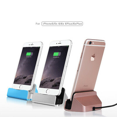 Magnetic Lightning USB Charger Charging Dock Stand Station For iPhone Black NEW