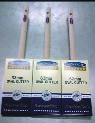 PAINT BRUSH / BRUSHES ABC MONARCH 3-PACK OVAL CUTTERS 63mm