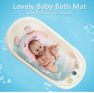 Lovely Baby Bath Mat Soft Newborn Toddler Kids Seat Pad Safety Security Support