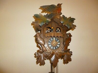Cuckoo Clock Swiss Made By Reuge Romance Suisa Edelweiss 2708 W German  Inner