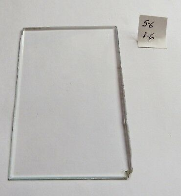 Bevelled glass panel for carriage clock or similar 5.6 cms x 8.6 cms