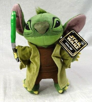 """Stitch as Yoda Disney Parks Exclusive Plush Stuffed Character About 10"""" Tall NEW"""