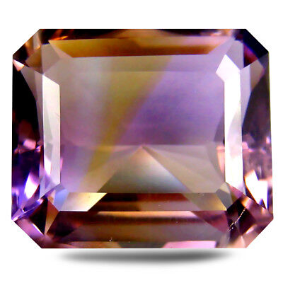 14.11 ct AAA Octagon (16 x 14 mm) Purple and Yellow Ametrine Natural Gemstone