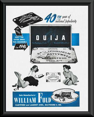 """1946 Ouija Board Parker Brothers Board Game Metal Sign Ad Repro 9x12/"""" 60771"""
