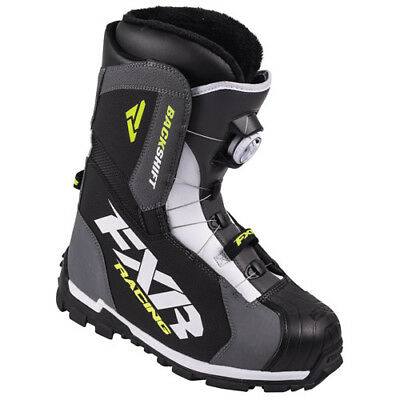 FXR™ Backshift BOA® Charcoal/Hi-Vis Men's Snowmobile Boots, 16503.207XX