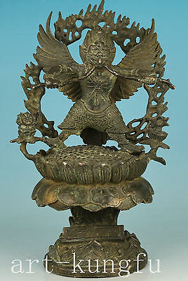 BIG Rare Chinese Old Tibet Bronze Collection casting Buddha Thor Statue only one