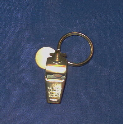 Acme Thunderer Whistle With Keyring Made In England