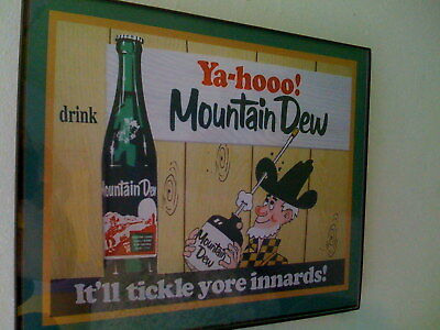 Mountain Dew Hillbilly Soda Fountain DinerFramed Advertising Print Man Cave Sign