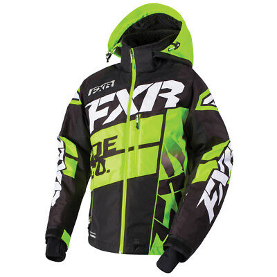 FXR™ Boost X Black/Lime Insulated Men's Snowmobile Jacket, 180029-1070-XX