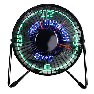 3 in 1 LED Temperatur Uhr USB 2 Modelle Fan Laptop PC Ventilator Lüfter Plastik