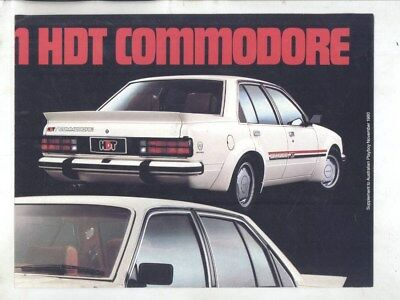 1981 Holden Australia Commodore HDT Irmscher Edition Peter Brock Poster wz5152