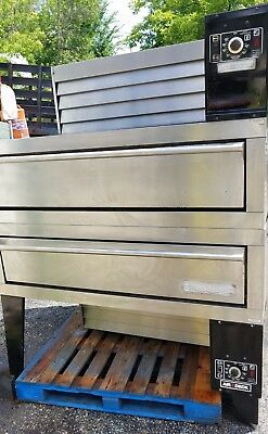 used Garland model G56PB Gas Air Deck Double Stack Oven