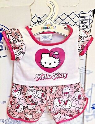 Build A Bear Hello Kitty Sanrio 2 Two Set Clothes Outfit Pink Pajama Set Lot Toy