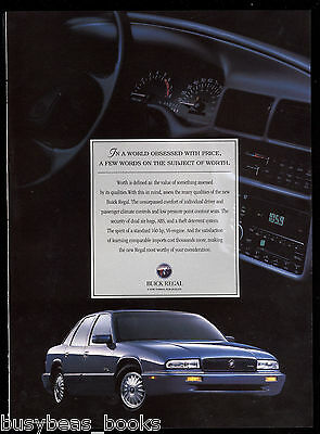 1995 BUICK REGAL advertisement, Buick Regal sedan, Canadian advert.