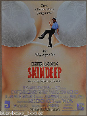 1989 SKIN DEEP movie advertisement, John Ritter, Blake Edwards