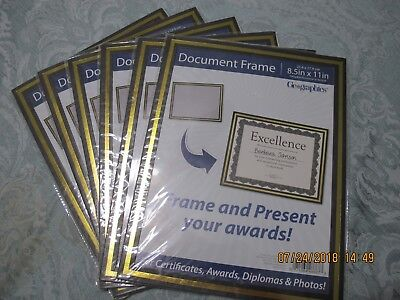 Geographics Lot of 6 Cardstock Document Frame New in Package