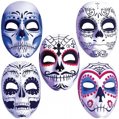 Dia de Los Muertos Mask Mens Day of The Dead Sugar Skull Costume Accessories