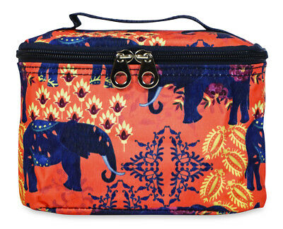 Jenzys Elephant Cute Small Designer Travel Cosmetic Makeup Bag Case Make Up