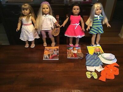 american girl dolls lot of 4 used free shipping 262 00 picclick