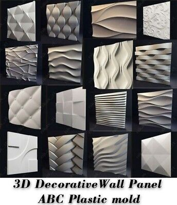 Molds For 3D Tile Panels ABS Plastic Form Mold Plaster Wall Stone Wall Art Decor