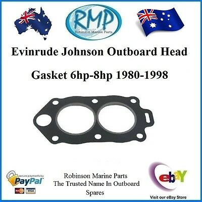 1 x Brand New Evinrude Johnson Head Gasket 6hp-thru-8hp 1980-thru-1998  325273