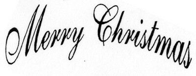 Unmounted Rubber Stamps Christmas Sayings Merry
