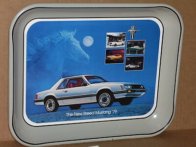 "MUSTANG Old Sign Tray DATED ""1978 Made In USA"" - Tells the 15 HISTORY of MUSTANG"