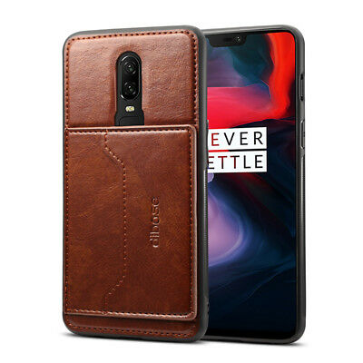 For OnePlus 6 6T OnePlus 5T PU Leather Wallet Card Holder Stand Back Case Cover