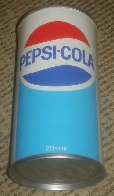 PEPSI COLA 10oz 284 mL FLAT TOP Soda pop Can MONTREAL CANADA CANADIAN pull tab!