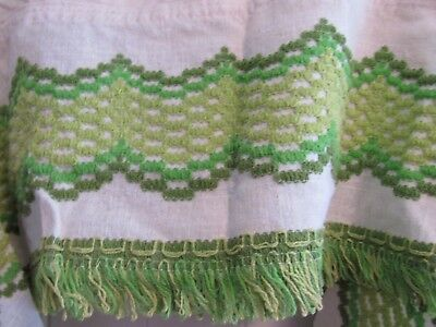 Vintage Sears 70's era kitchen cafe curtains with valance