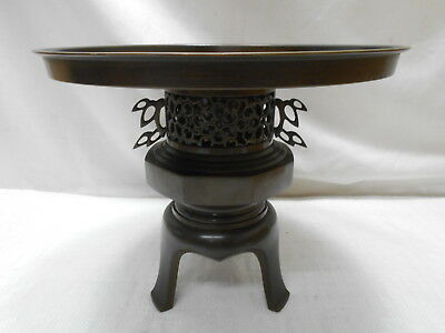 Antique Bronze Ikebana Flower Vase Kado Collectable Japanese Marked C1920s  #22