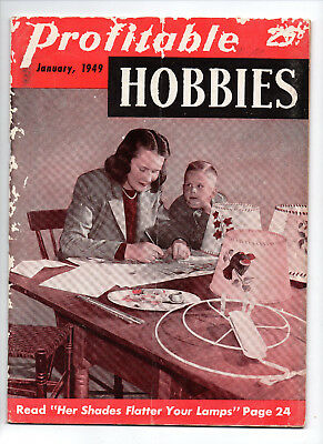 Jan 1949/Profitable Hobbies/MAGAZINE/Preowned with signs of age on cover