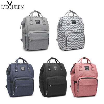 LEQUEEN Mummy Maternity Nappy Diaper Bag Large Baby Changing Travel Backpack US
