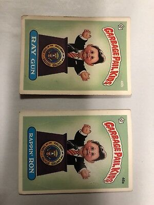 Garbage Pail Kids 1985 2nd Series - Rappin' Ron 46a & Ray Gun 46b Both Checklist