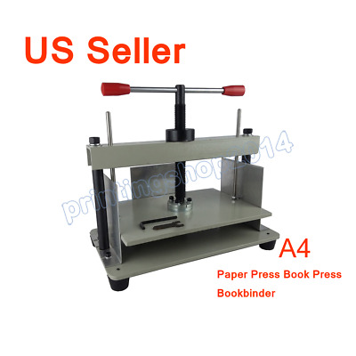 A4 Steel Bookbinder Press Screw Bookbinding Financial Receipt Flattening machine