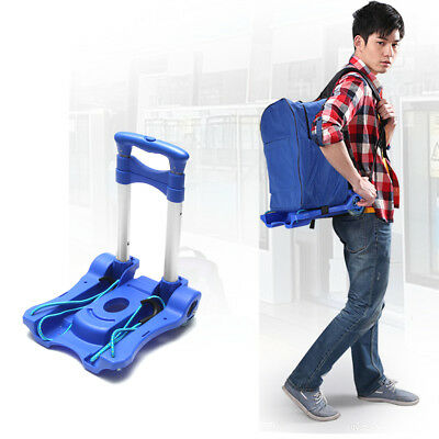 Folding Hand Trolley Hand Truck Loads 40kg Heavy Duty Compact Luggage Cart