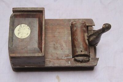 Indian Old Vintage Unique wooden body with trigger Cigarette Case Box  WO 13
