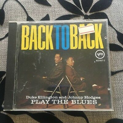 Back To Back. Duke Ellington And Johnny Hodges Cd. Play The Blues