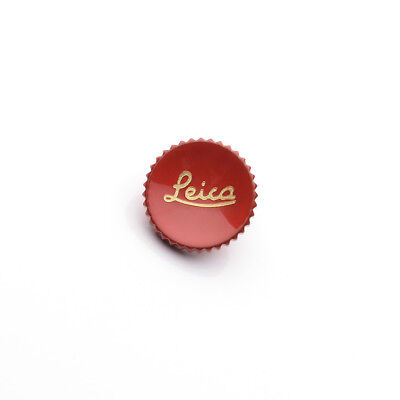 Red Metal Concave Shutter Release Button with Leica Letters typ240 M-P M9 RT