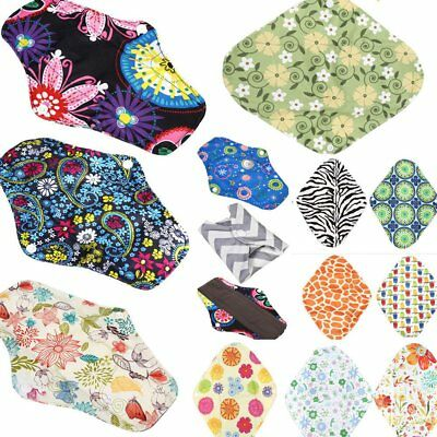 10Pcs Charcoal Bamboo Cloth Reusable Washable Menstrual Pads Sanitary Pads O5