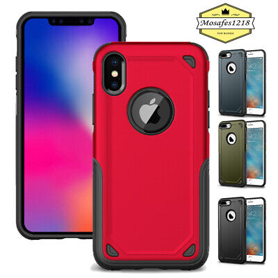 Shockproof Hybrid Rugged Protective Case Cover For iPhone 7 8 X XR XS Max