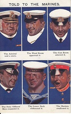 Post card, Told to the Marines. Unused
