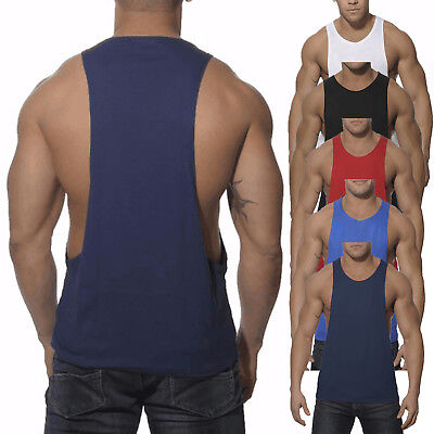 a3c4861e60afe Men s Sport Fitness Gym Vest Muscle Tank Tops Sleeveless Bodybuilding T- Shirt AU