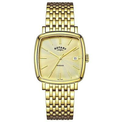 Rotary Windsor Gold Plated Mens Watch GB05308/03