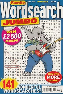 Family Wordsearch Jumbo. 141 Wonderful Word Search Puzzles. Volume 272